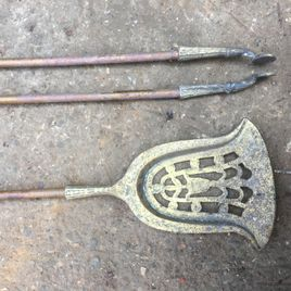 Pair Of Vintage Fire Place Utensils